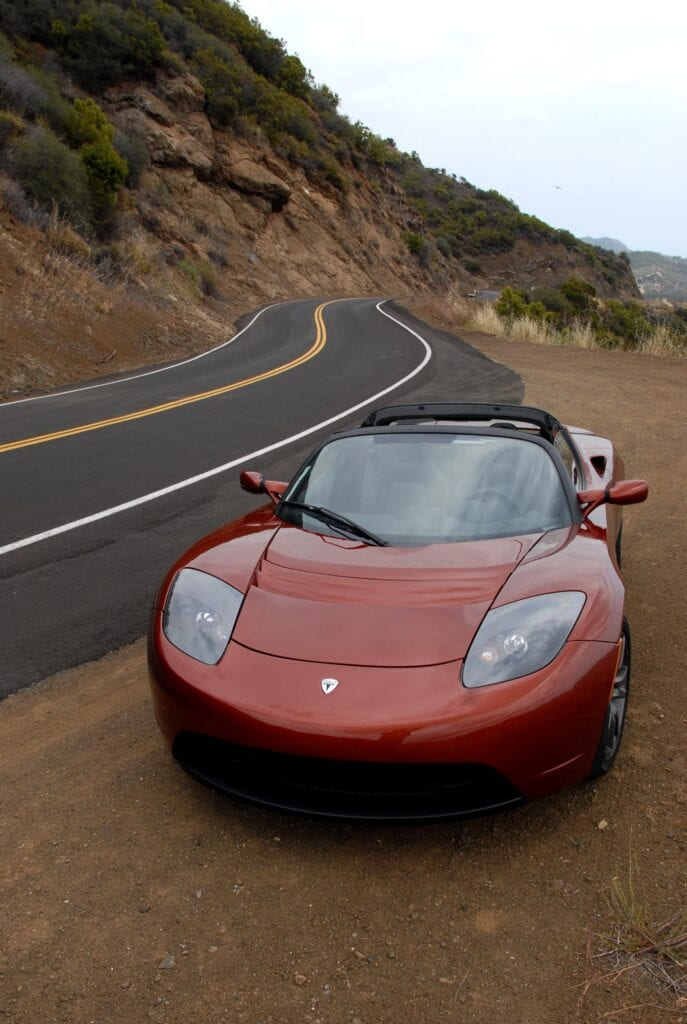 Our Roadster on the road