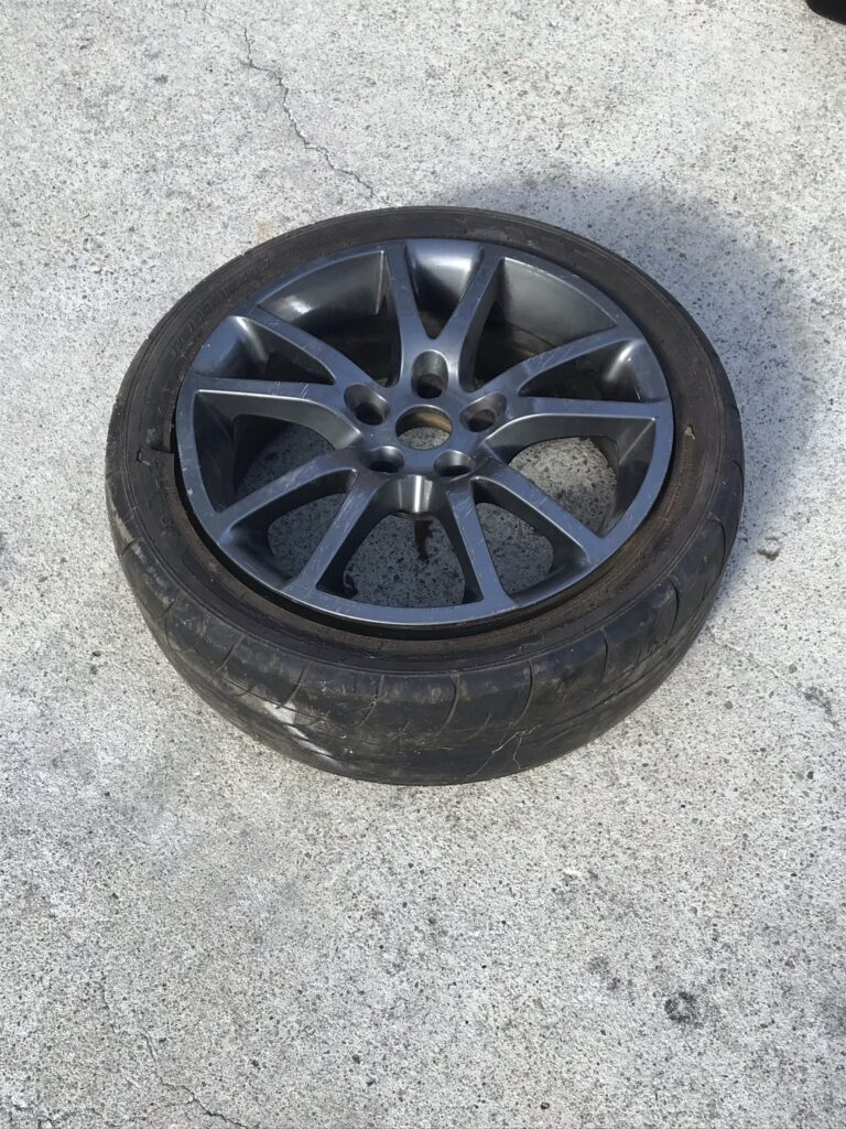 spare rim with dent but repairable