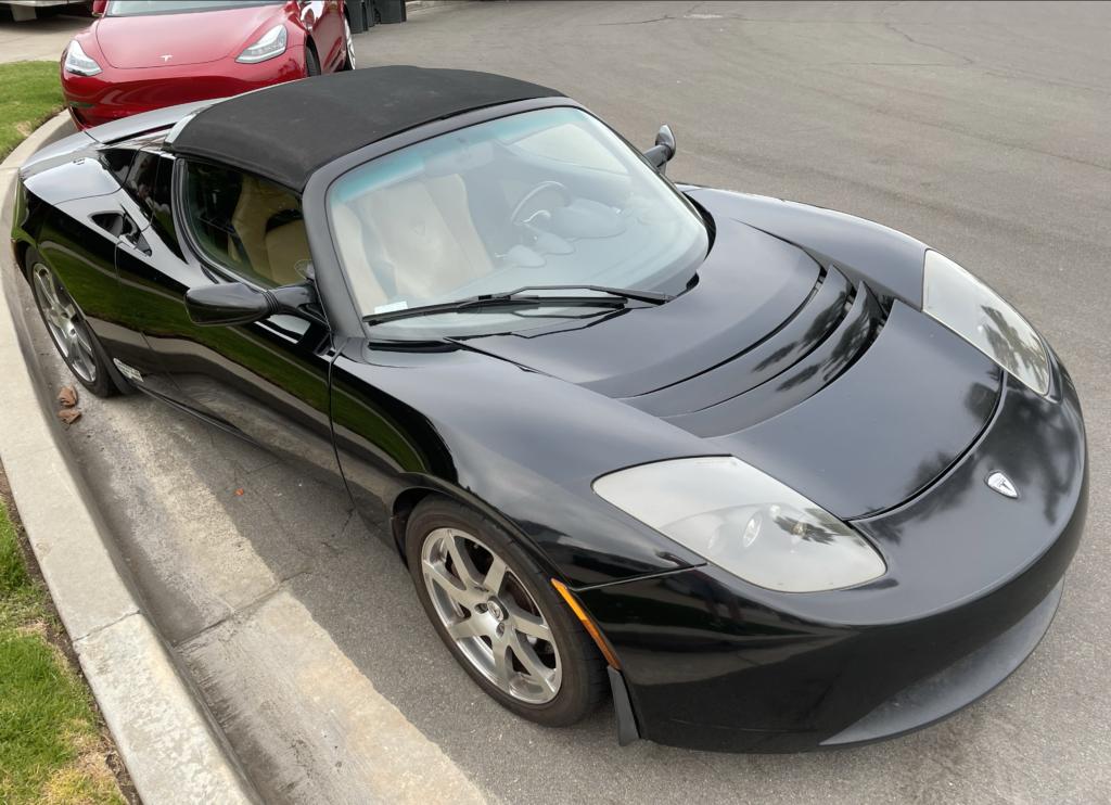Black Tesla Roadster 2