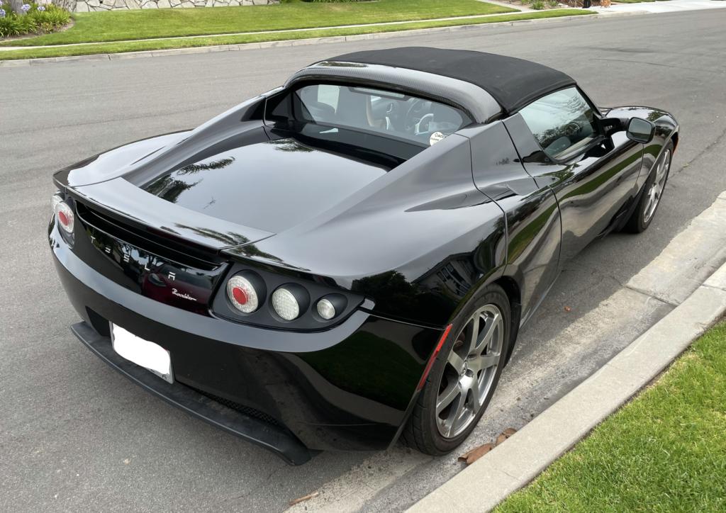 Black Tesla Roadster 4