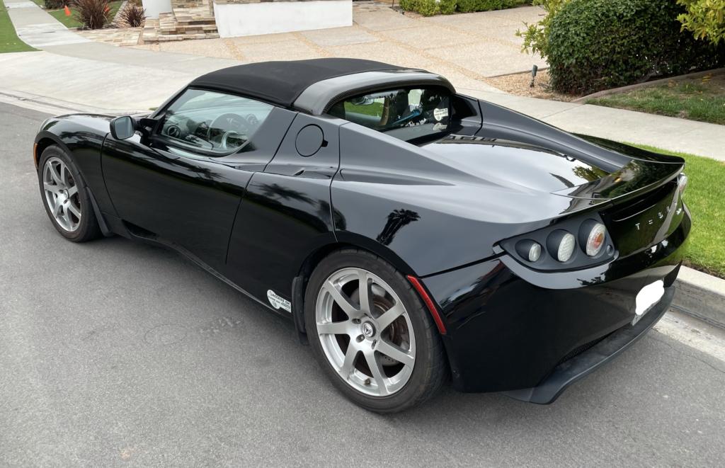 Black Tesla Roadster 5